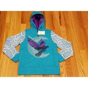 Lucky Brand Girl's Plush Lined Hoodie Sweatshirt